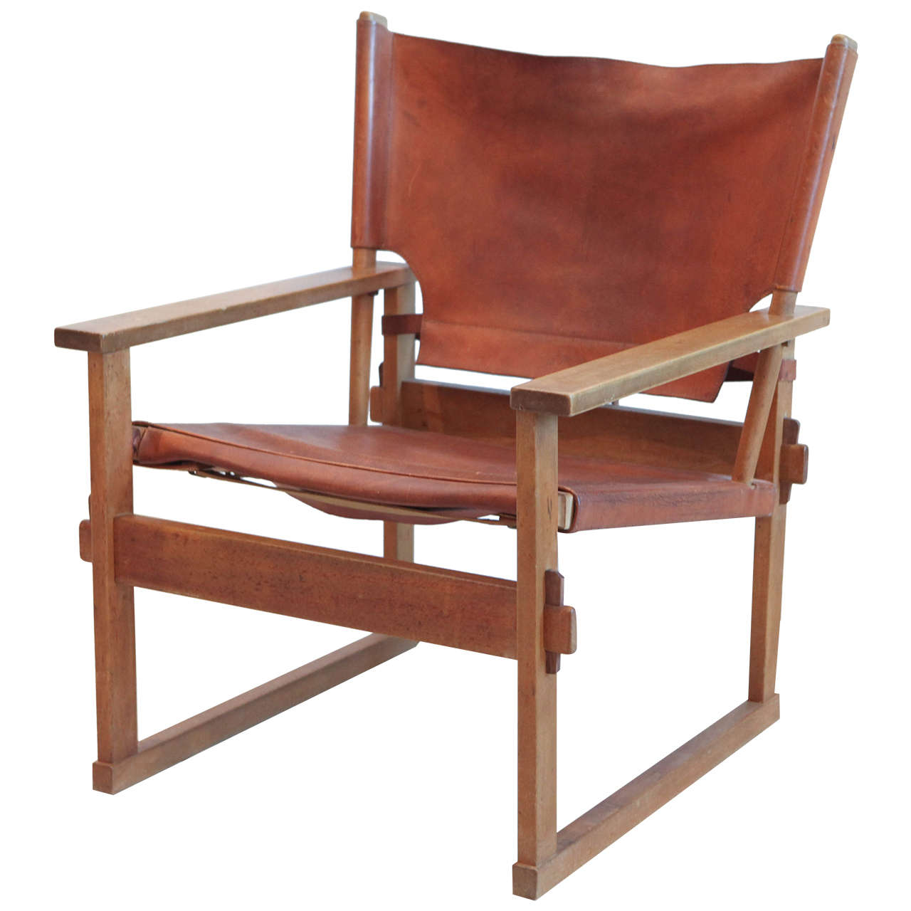 leather safari chair slipper covers and wood style at 1stdibs