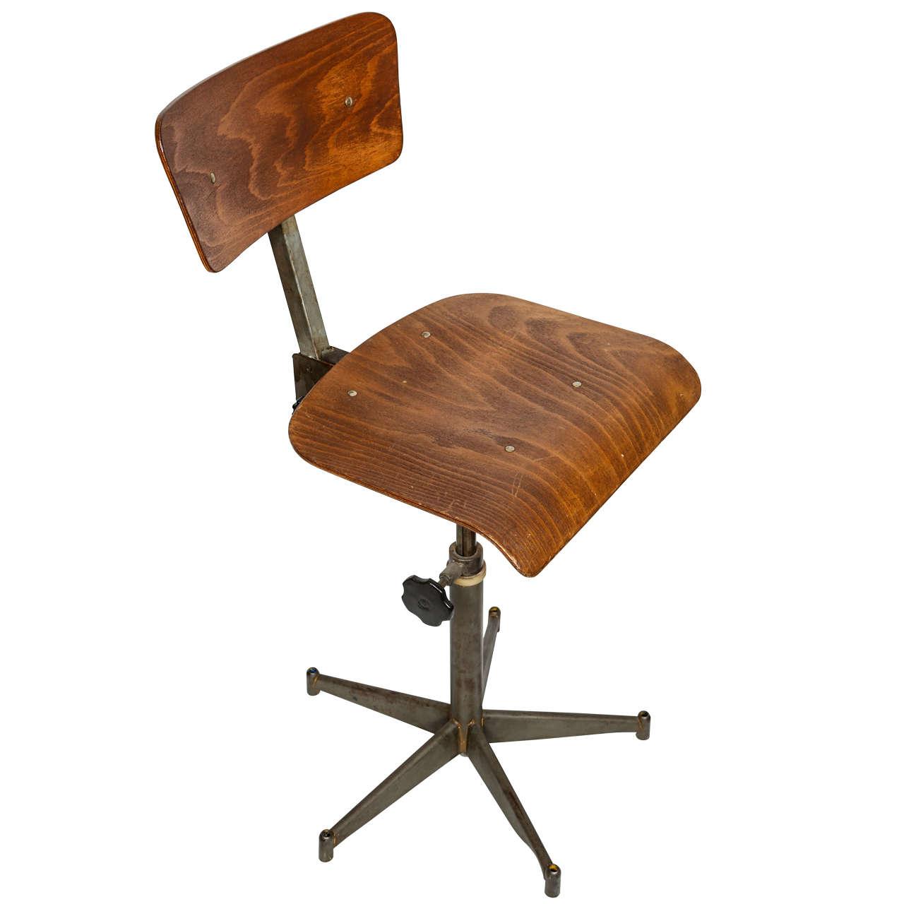 modern drafting chair ikea bean bag industrial at 1stdibs