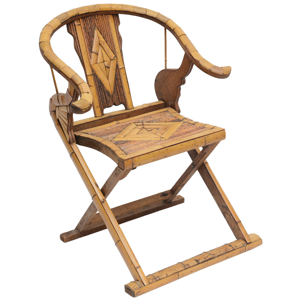 saucer chairs sam s club high end rocking bamboo folding chair at 1stdibs