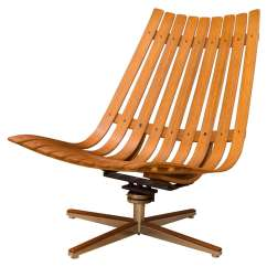 Teak Lounge Chair Swivel Vanity Hans Brattrud At 1stdibs