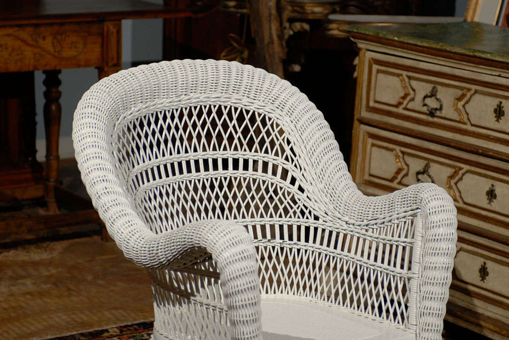 heywood wakefield wicker chairs target toddler chair for sale at 1stdibs