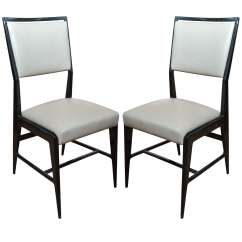 Gio Ponti Chair Moving Baby Pair Of Occasional Chairs Attributed To For Sale