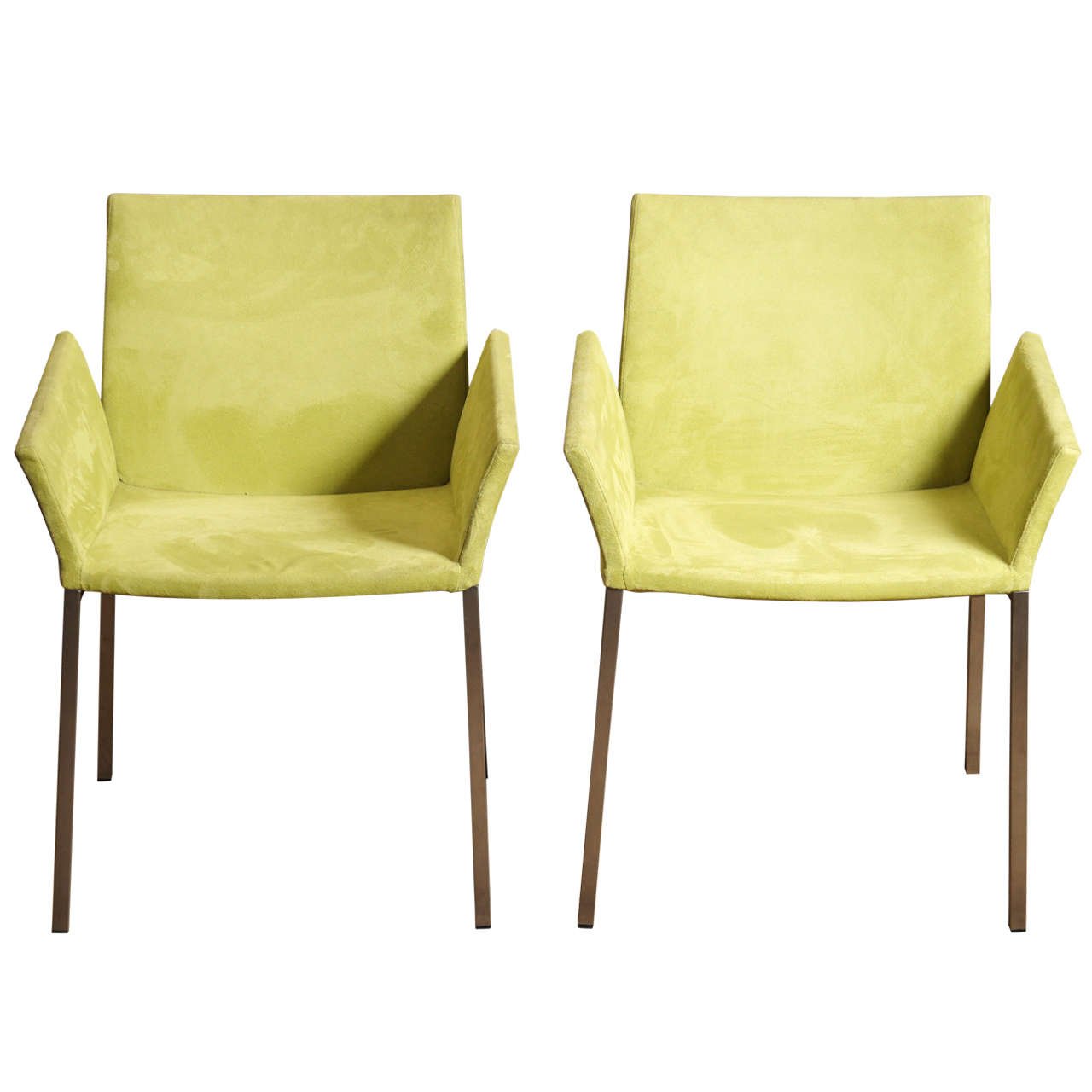 american leather swing chair bob steelcase pair lime suede chairs at 1stdibs