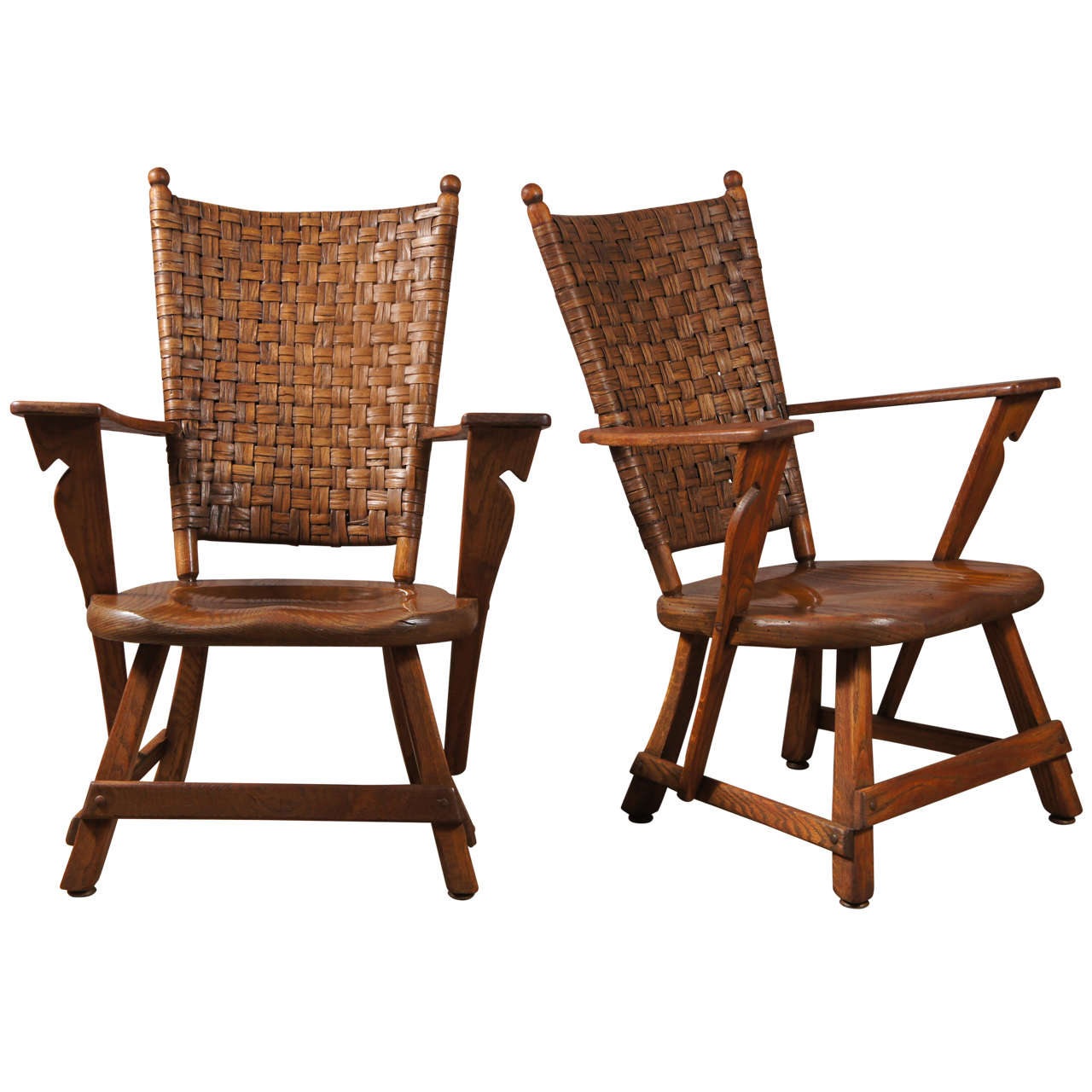 hickory chair dallas design center diy ruffled covers wedding pair old arm chairs at 1stdibs