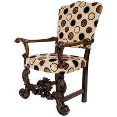 Black Velvet Throne Chair Danish Teak Dining Chairs Antique Italian Carved Oak At 1stdibs