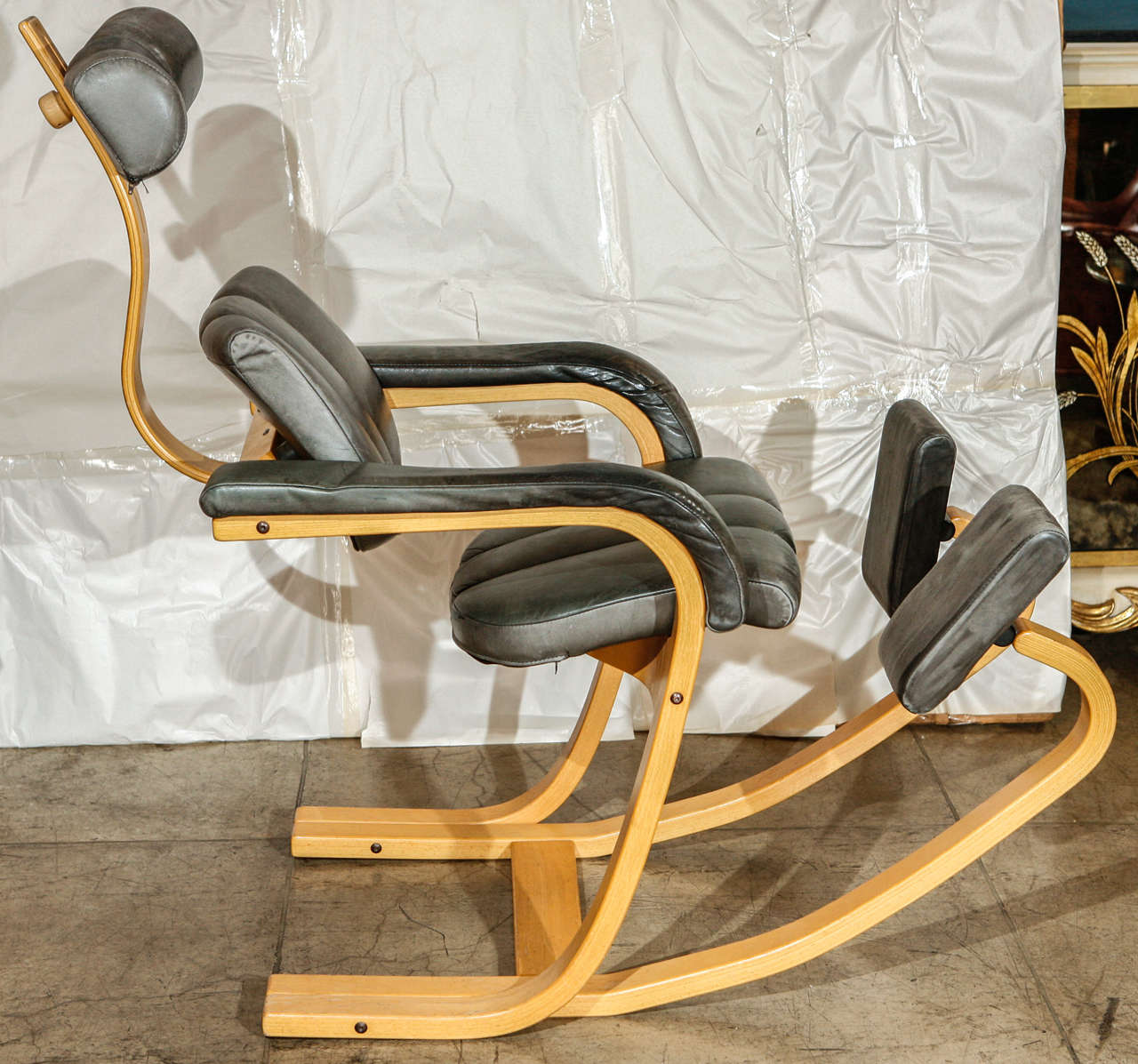 stokke gravity balans chair steel with armrest rocking for sale at 1stdibs