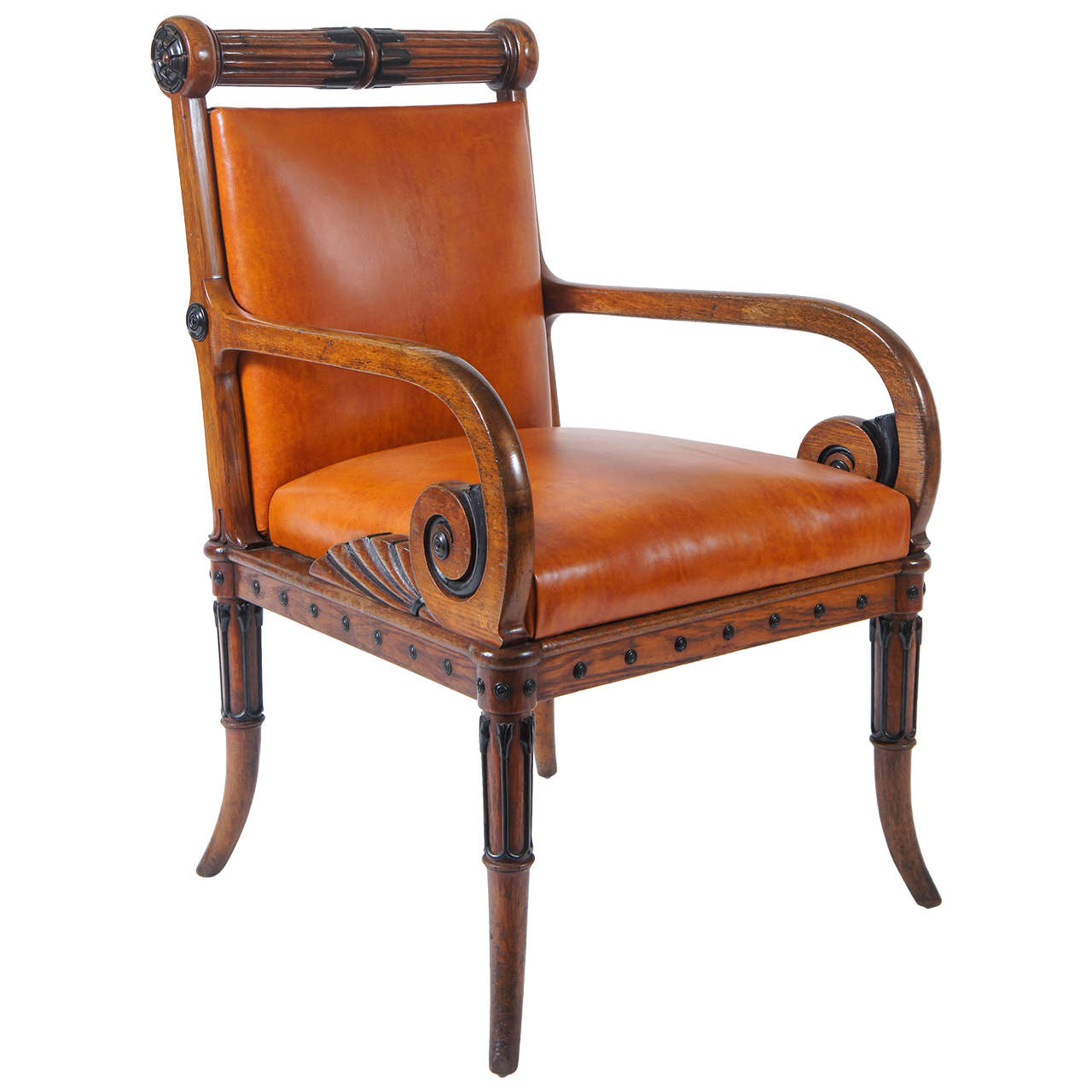 unusual armchair poly chairs sale late regency oak and ebony circa 1825 at