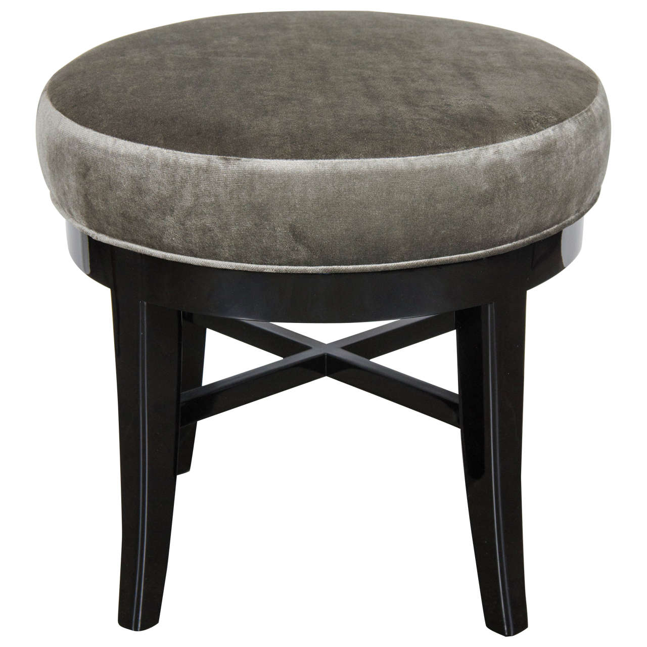 swivel vanity chair cheap covers spandex mid century modernist round stool with x