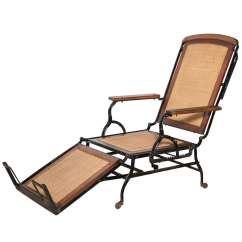 Iron Chaise Lounge Chairs French Throne Chair Cevedra Sheldon Rolling Walnut Cane And Cast Circa 1876 For