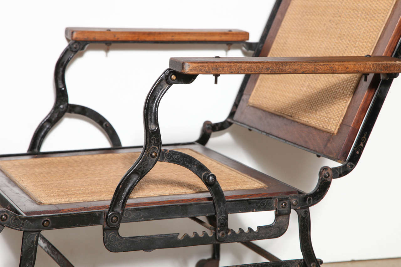 iron chaise lounge chairs painted wood table and cevedra sheldon rolling walnut cane cast