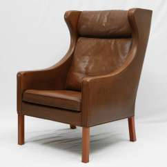 Lounge Chair Covers Australia Hickory Tufted Leather Sofa Borge Mogensen Wingback At 1stdibs