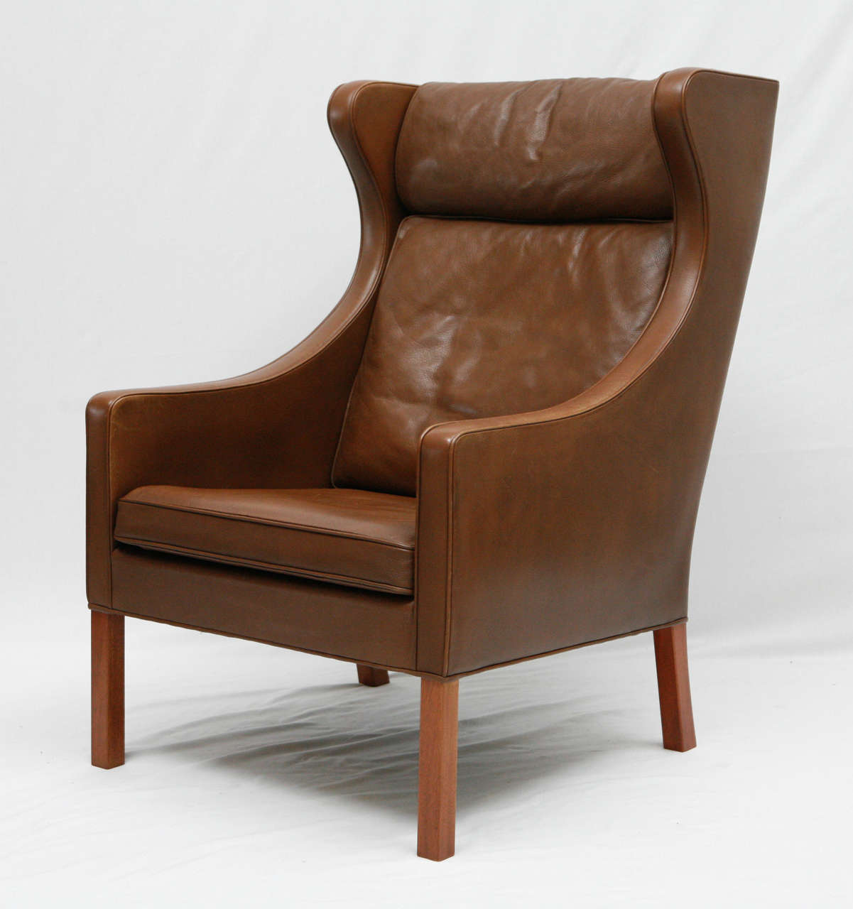 recliner chair covers australia swivel vintage borge mogensen leather wingback at 1stdibs