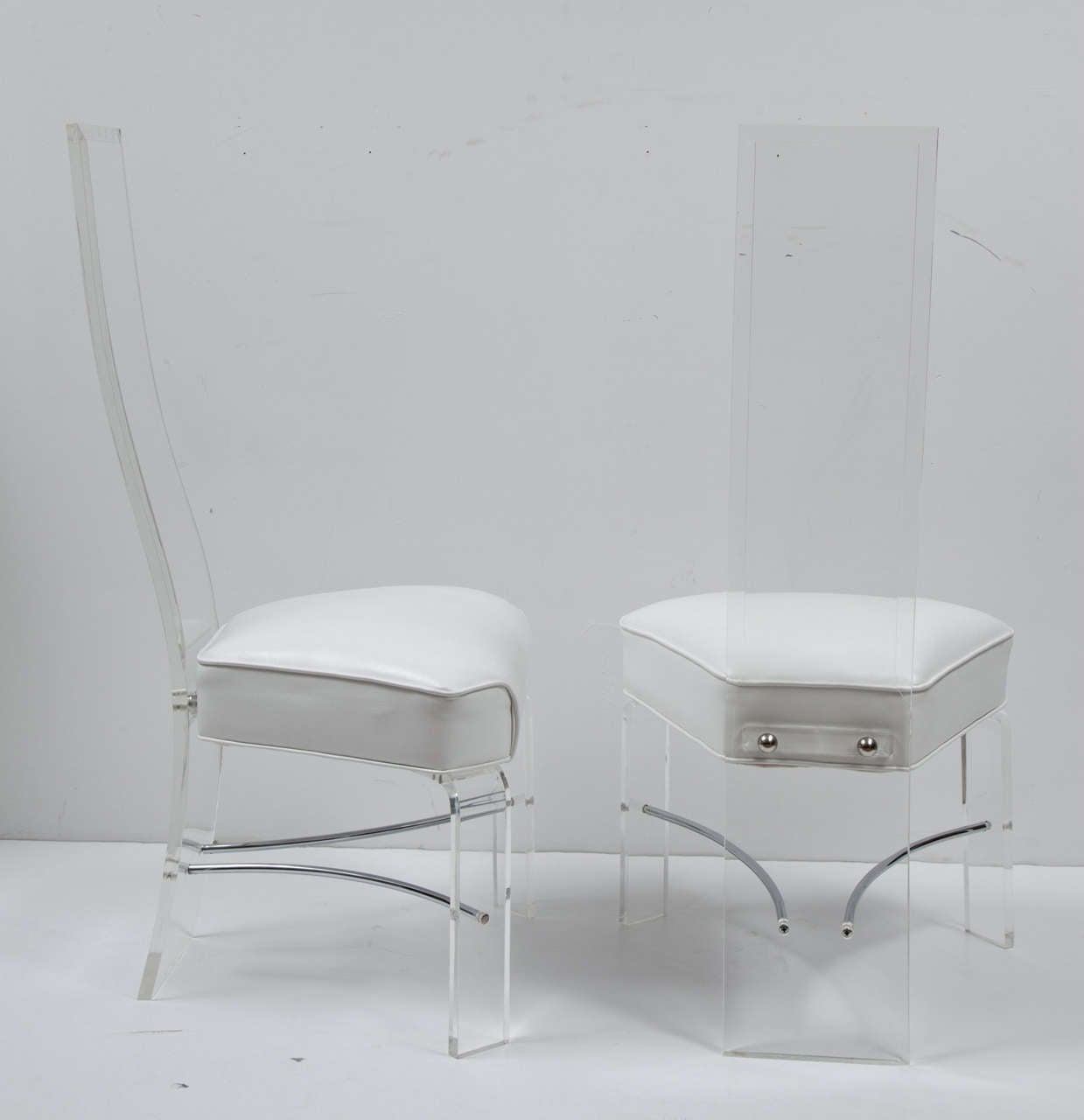 acrylic dining chair cedar adirondack chairs plans two lucite room at 1stdibs