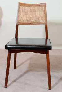Mid Century Fold-Out Dining Table with Four Chairs at 1stdibs