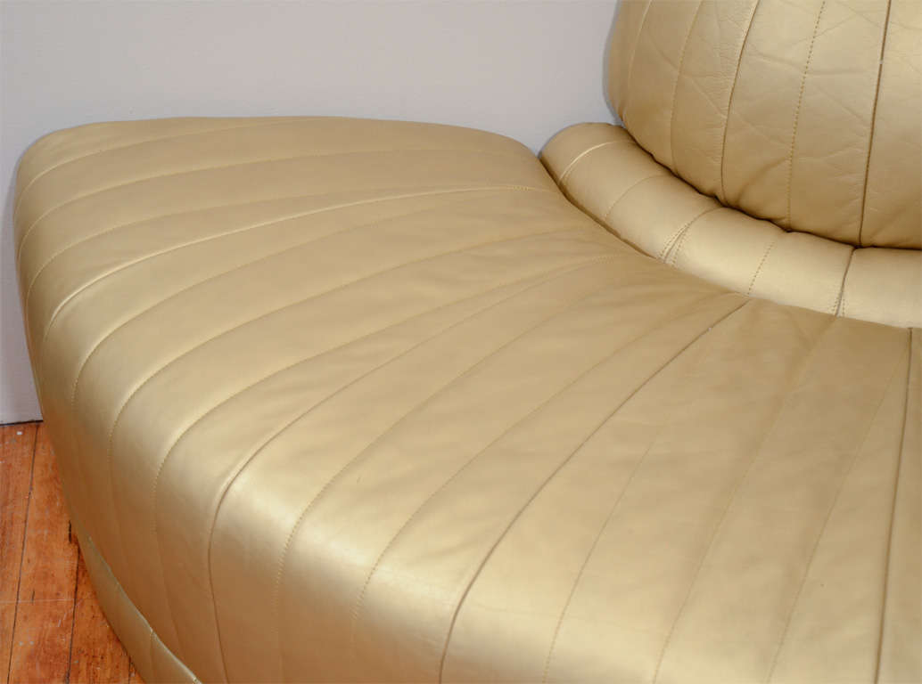 de sede sofa vintage conversational mayo furniture art deco gold leather corner chaise lounge at 1stdibs