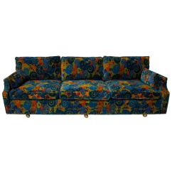 70s Sofa Crate Barrel Sleeper Mid Century 70 S Jack Lenor Larsen Velvet For Sale At 1stdibs