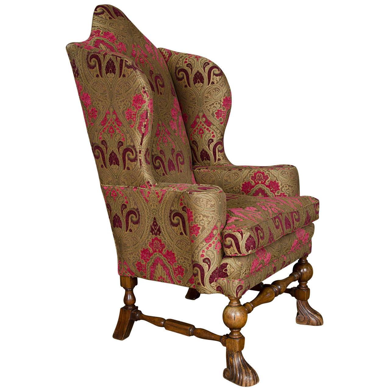 william and mary chair big agnes antique wingback armchair at 1stdibs
