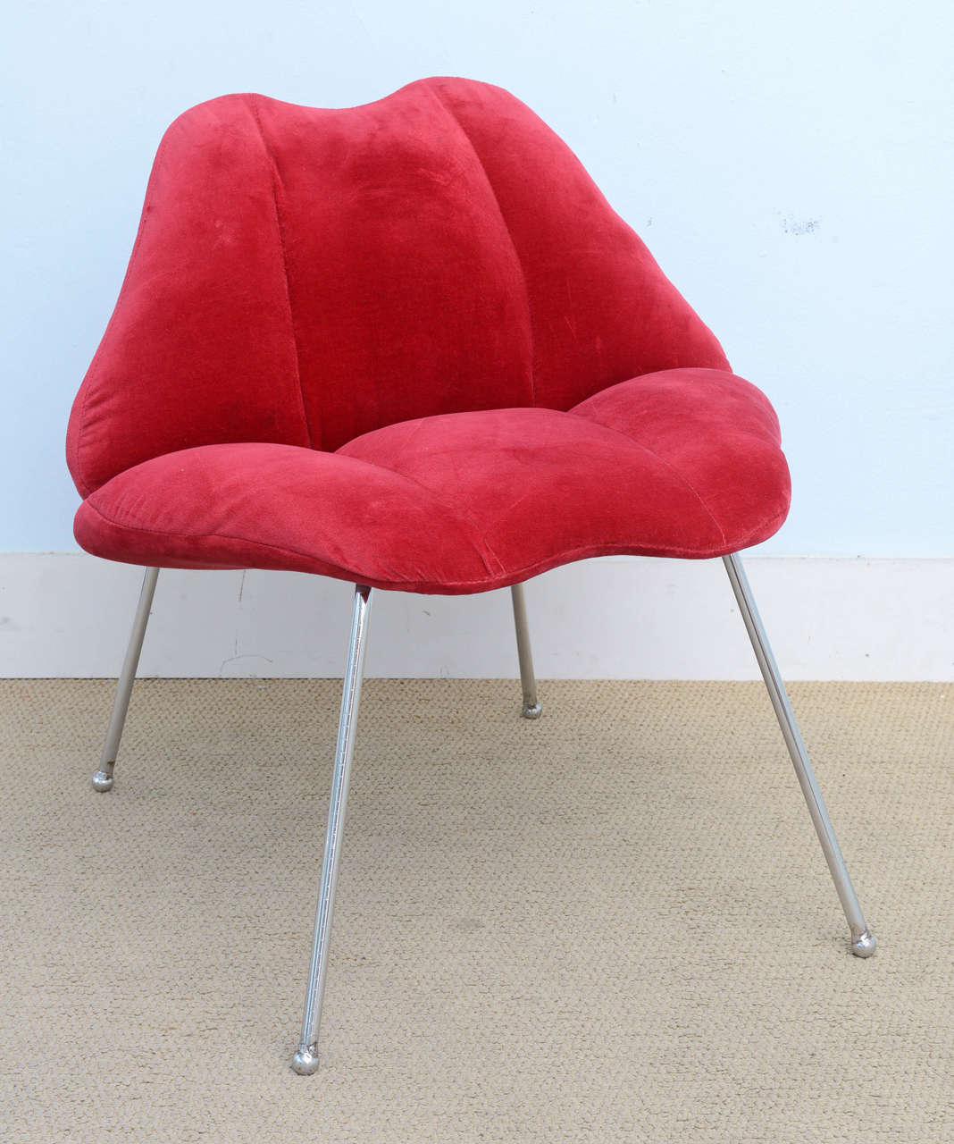 Lip Chair Pair Of Modern Lips Pop Fun Chairs At 1stdibs