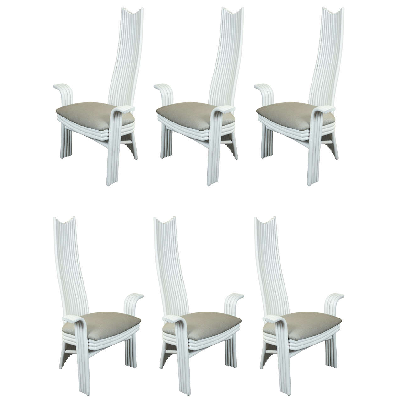 unusual dining chair high back patio furniture six chairs at 1stdibs