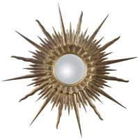 Wood Starburst Mirror at 1stdibs
