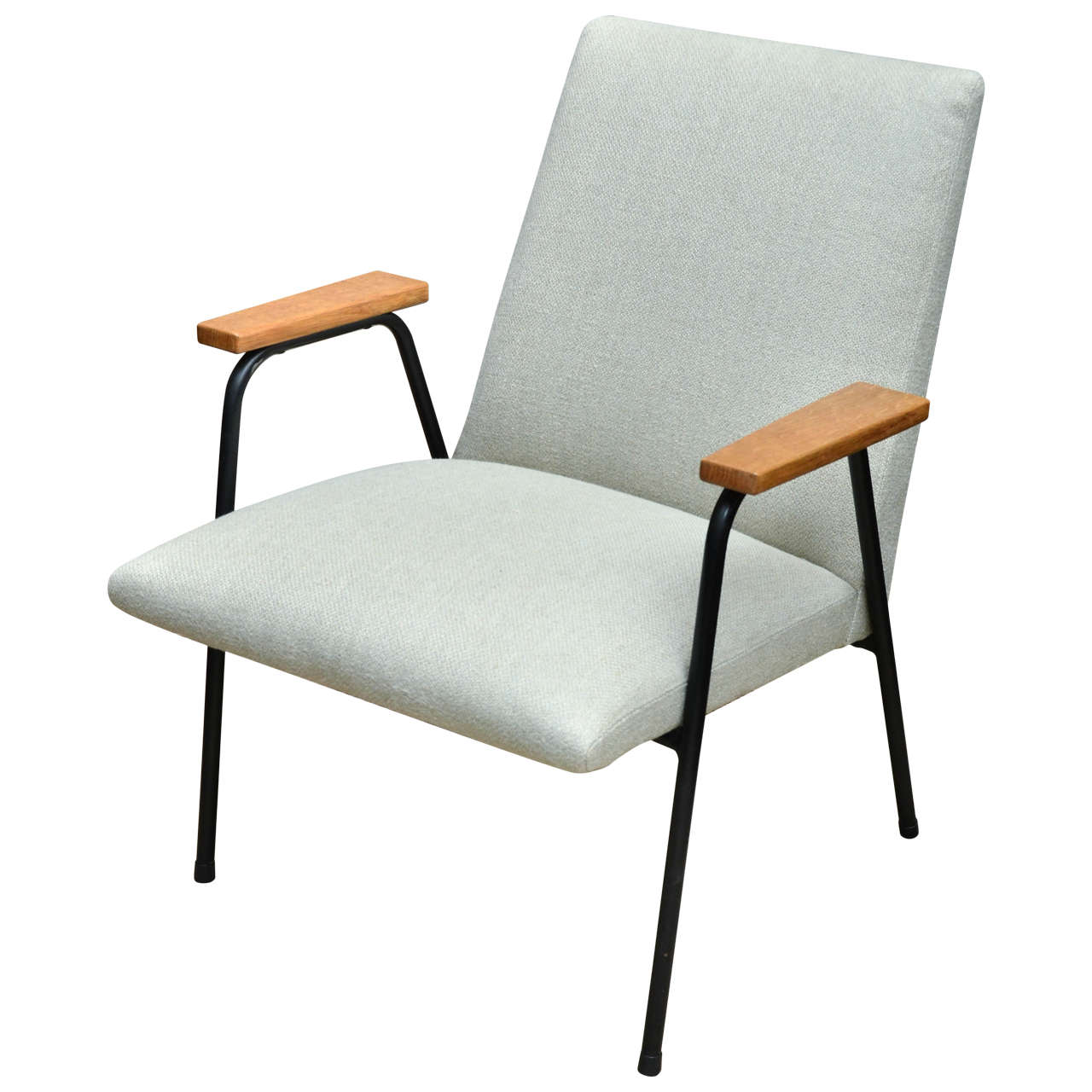 metal framed armchair with