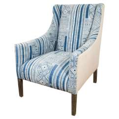 Blue And White Upholstered Chairs Beach Target Indian Dhurrie Chair At 1stdibs