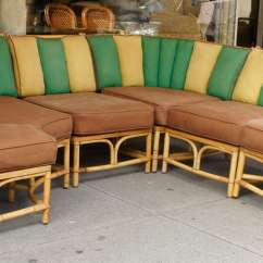 Chadwick Sofa Leather Springfield Mo Sectional Bamboo By Ficks Reed At 1stdibs