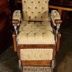 Art Deco Club Chairs Leather Accent Chair Red Restored 1800s Barber By Kochs For Sale At 1stdibs