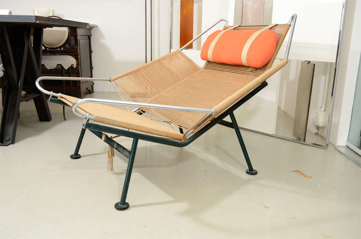 Flag Halyard Chair Hans Wegner Quotflag Line Quot Halyard Lounge Chair At 1stdibs