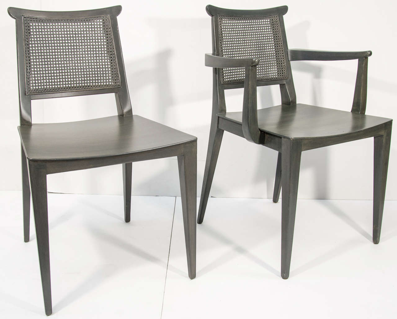 Grey Wood Dining Chairs Set Of Ten Grey Cerused Wood Dining Chairs Designed By