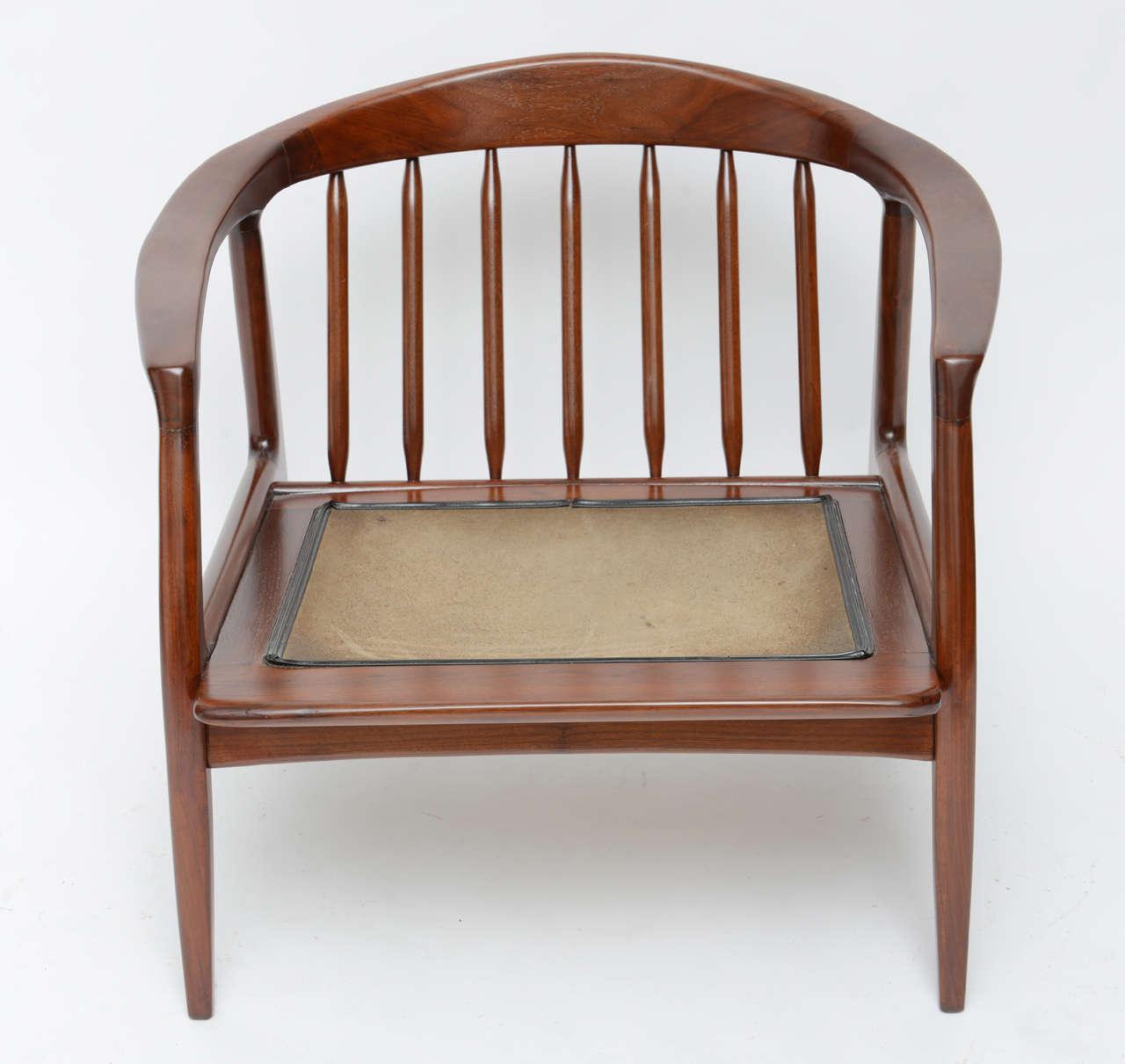 spindle arm chair dicks beach chairs milo baughman wood at 1stdibs