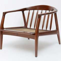 Spindle Arm Chair Lewis And Clark Folding Milo Baughman Wood At 1stdibs