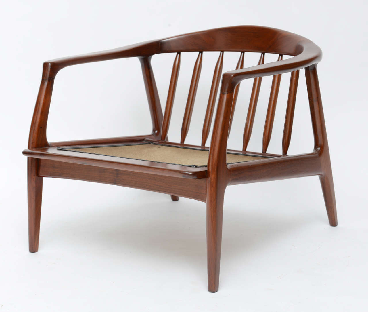 spindle arm chair roll milo baughman wood at 1stdibs