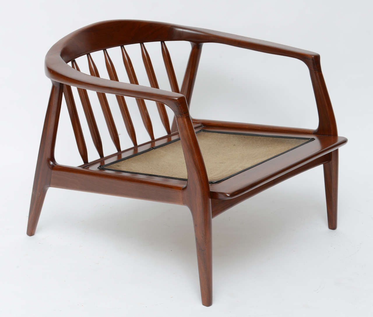 Spindle Arm Chair Milo Baughman Wood Spindle Arm Chair At 1stdibs