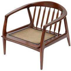Spindle Arm Chair Outdoor Swivel Rocking Chairs Milo Baughman Wood At 1stdibs