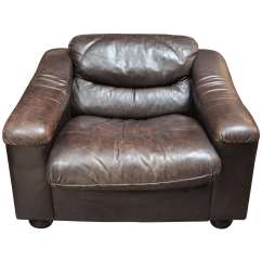 Plush Leather Chair Baby Sitting For Car Low Armchair Circa 1900 Sale At 1stdibs