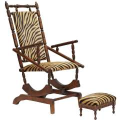 Rocking Chair With Footstool India Eco Posture French Napoleon Iii For Sale