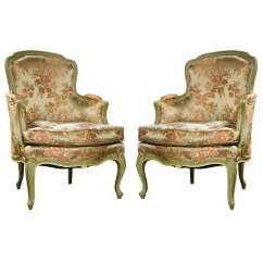 French Louis Chair Kitchen Covers Target Pair Of Xvi Style Bergere Chairs At 1stdibs