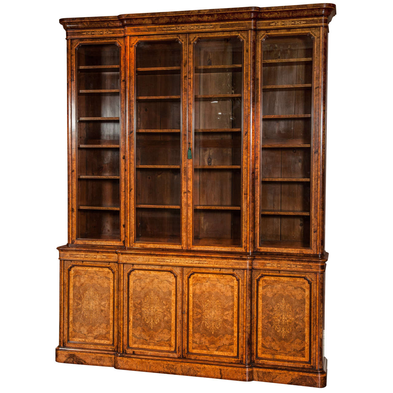 bookshelf chair for sale with casters breakfront library bookcase circa 1850 at 1stdibs