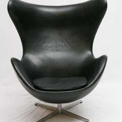 Vintage Egg Chair M S Dining Covers Black Leather Arne Jacobsen At 1stdibs