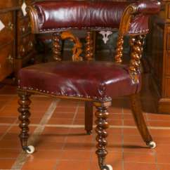 Wooden Library Chair Tripp Trapp High Pair Of Carved Oak Or Desk Chairs For Sale At 1stdibs