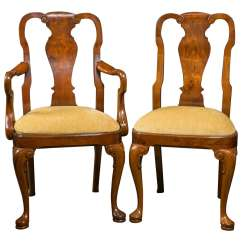 Queen Anne Style Chairs Tom Dixon Wingback Chair Walnut Dining For Sale At 1stdibs
