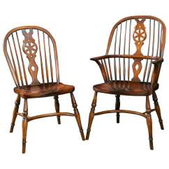 Windsor Back Chairs For Sale Unusual Leather Chair Set Of Eight Wheel At 1stdibs