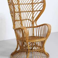 Wicker Wingback Chairs Wedding Chair Covers And Sashes For Sale High Rattan Designed By Lio Carminati Gio Ponti The Cruiser Conte Biancamano In Late 1940s