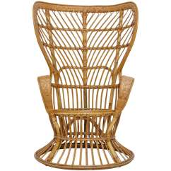 Rattan Wingback Chairs Outdoor Nest Chair High Designed By Lio Carminati And