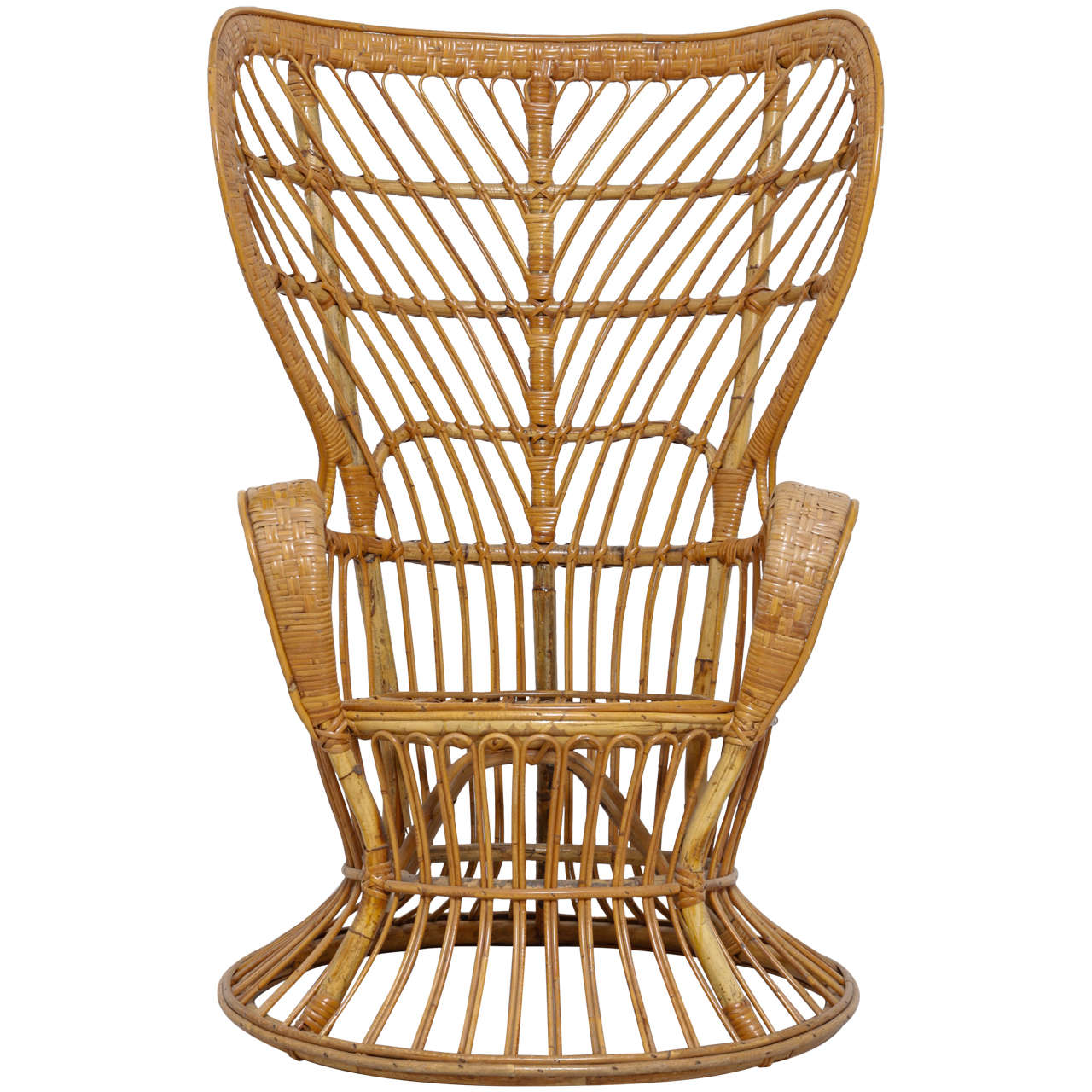 wicker wingback chairs dining room chair covers washable high rattan designed by lio carminati and