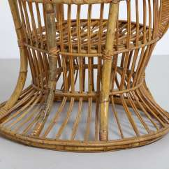 Rattan Wingback Chairs Chair Caning Seat Weaving Supplies High Designed By Lio Carminati And