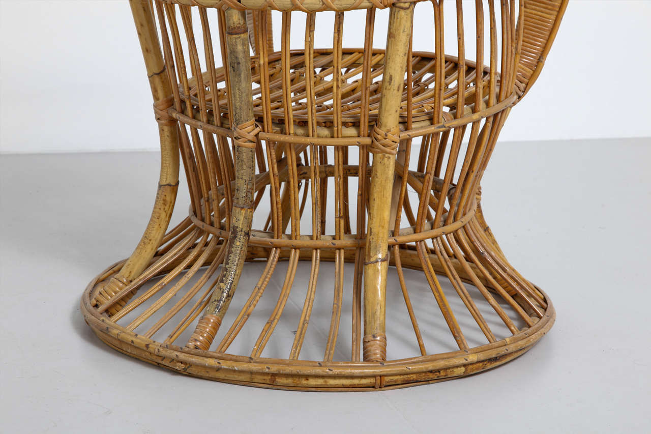 wicker wingback chairs best recliner garden uk high rattan chair designed by lio carminati and