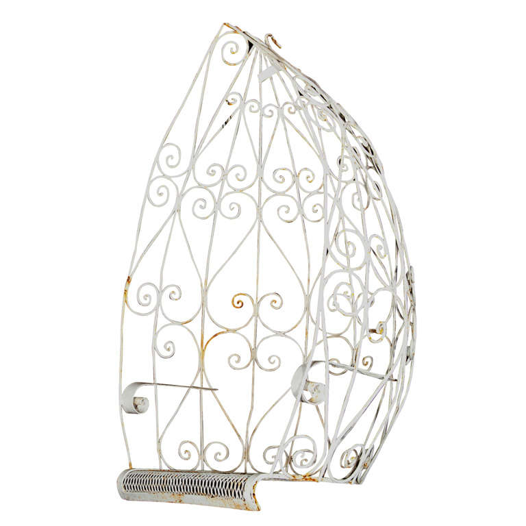 Mod Wrought Iron Hanging Egg Chair at 1stdibs