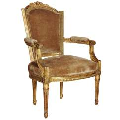Chair And Matching Stool Back Covers Australia 18th Century French Louis Xvi Armchair At 1stdibs